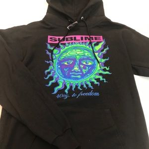🌞 Sublime Neon Green 40 Oz. To Freedom Hoodie